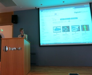 Siri Jordal under åpningen av NVIMs samling på Digitalt Museum. Foto: Per Einar Faugli