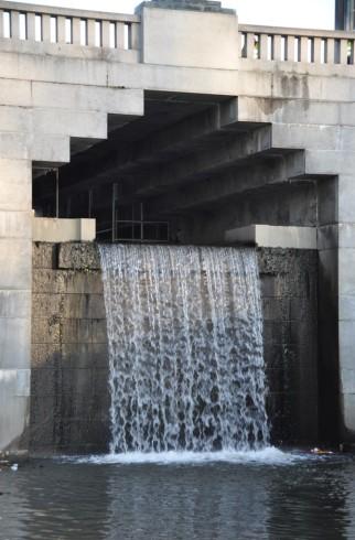 Damkonstruksjonen ved Øvre Frogner dam. Foto Helena Nynäs, NVE