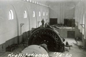 Glomfjord - maskinhallen 1920 - Statkraft