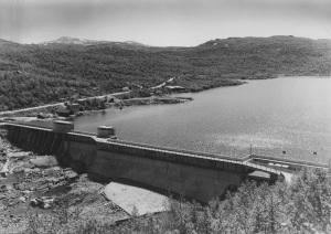 Ferdig platedam, 1942 - Foto ØTB-Videoarkivet