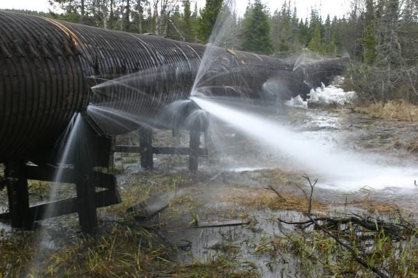 lekk rørledning, Tyria II 2006. Foto: Arne T. Hamarsland