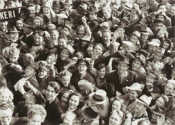 Frigjøringsdagen 8. mai 1945. Foto: Trondheim Byarkiv