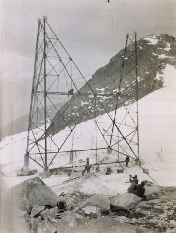 Bygging av mast