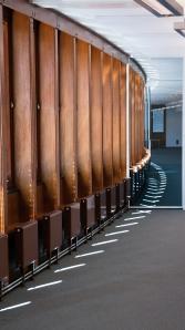 Innerveggene er også fredet av Riksantikvaren. Foto: Rune Stubrud/NVE