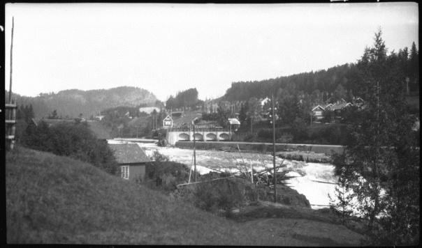 Sagafoss 1923 - NVEs fotoarkiv