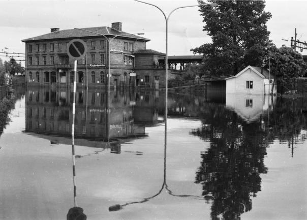 Lillestrøm stasjon. Foto: NVE/Edvigs Kanavin 9. juni 1967