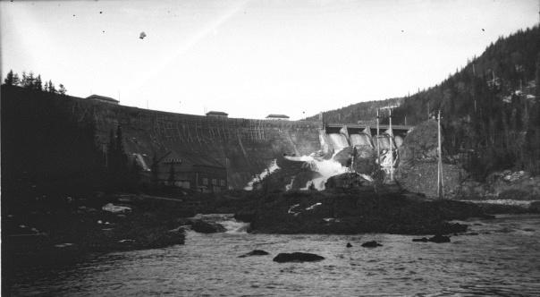 Tunhovddammen 1920 - NVEs fotoarkiv