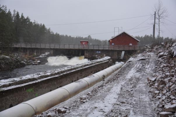 Ny rørgate opp mot Skjærsjødammen