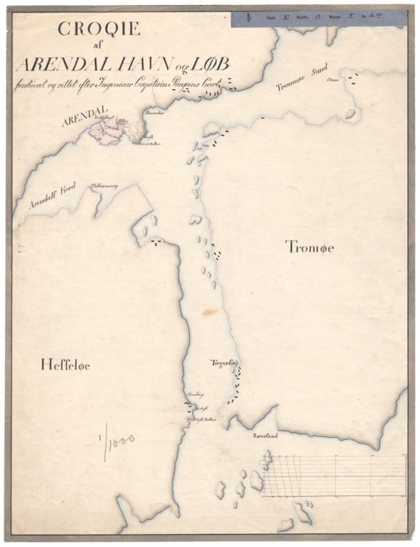 Kart over Arendal havn